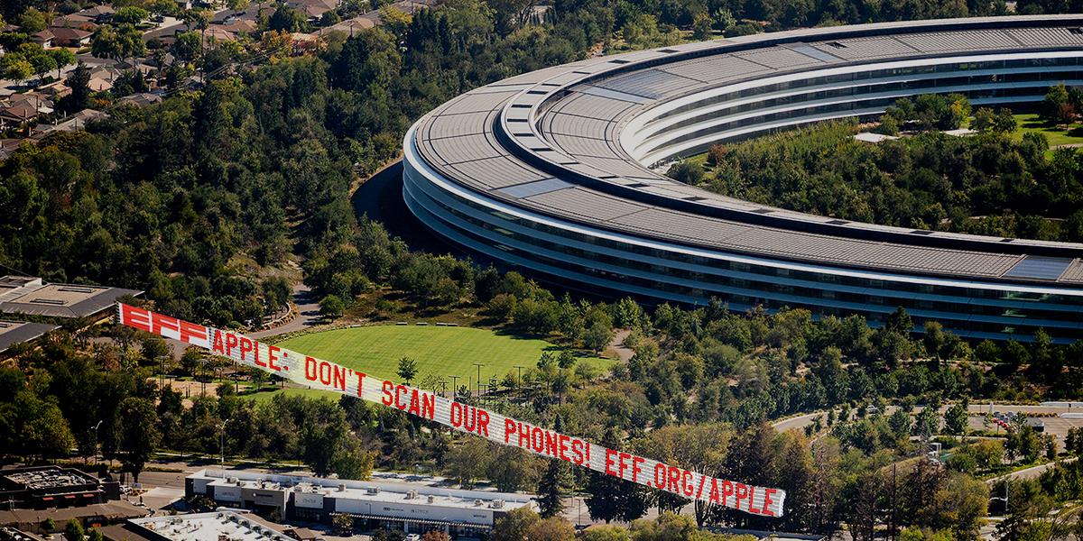 EFF banner over Apple