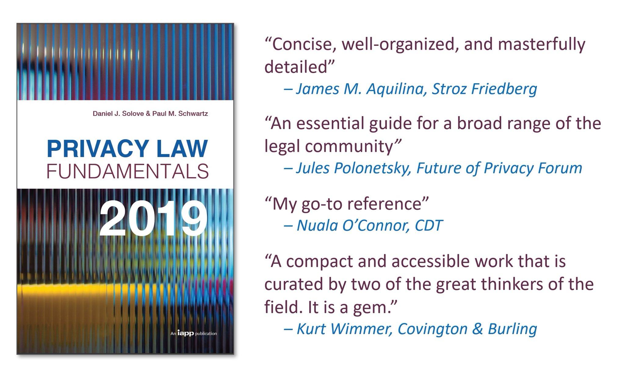 Resource: Privacy Law Fundamentals, Fifth Edition - Solove & Schwartz
